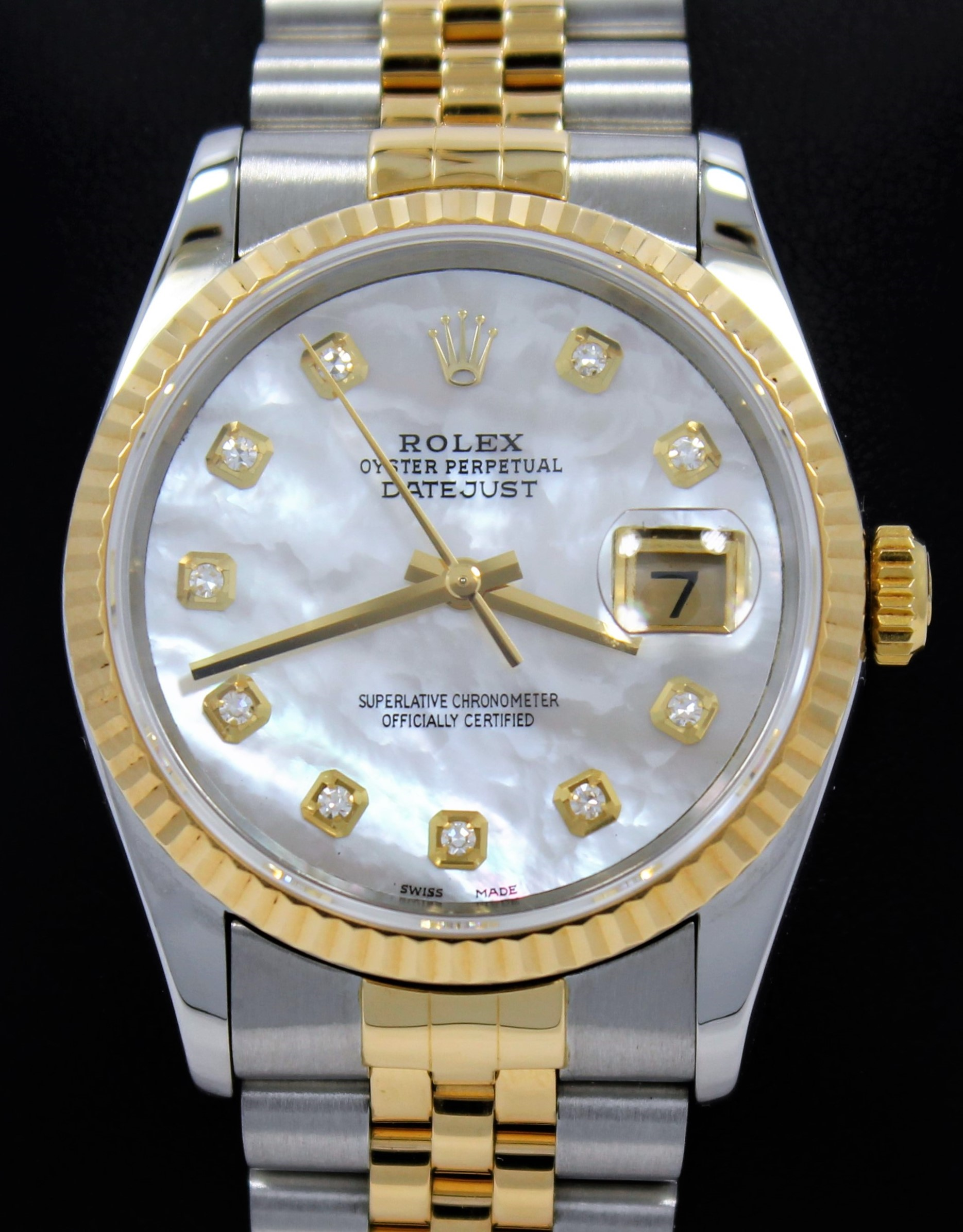 dp watch rolex bezel steel ii amazon white wio gold stainless watches mens com datejust new