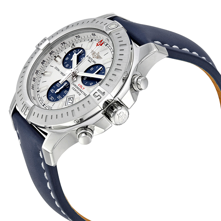 Breitling Colt Chronograph Blue Strap Fake Watches