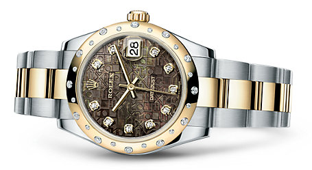 Luxury Steel And Yellow Gold Datejust Rolex Replica Watches