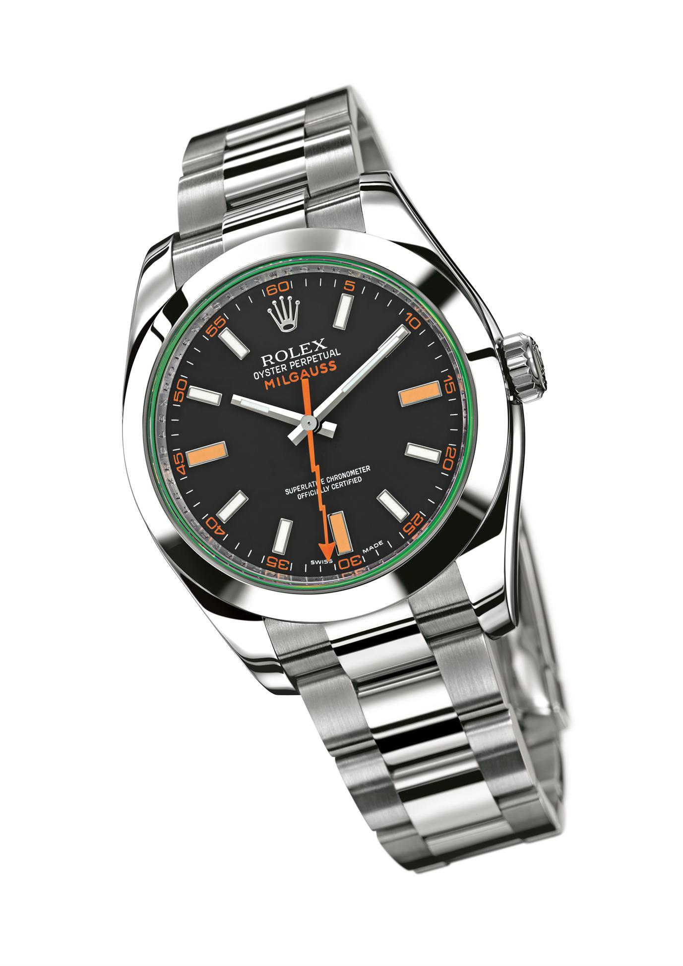 Rolex Milgauss of stainless steel strap replica