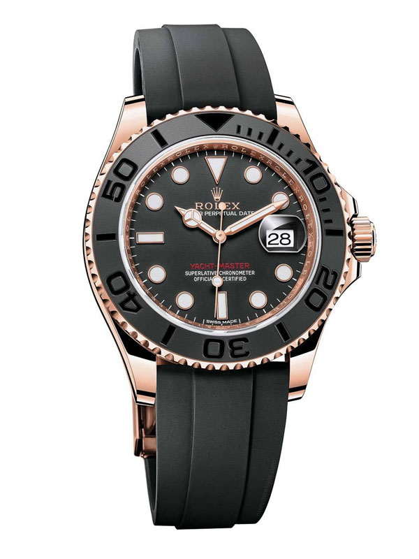 Black Straps Replica Rolex Yacht-Master 40 Watches
