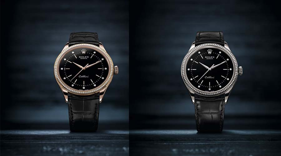 black dial copy Rolex Cellini