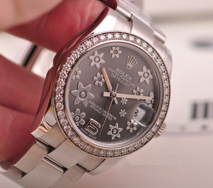 Rolex Lady-Datejust 178384 Replica Watches With Diamonds Plating Bezels
