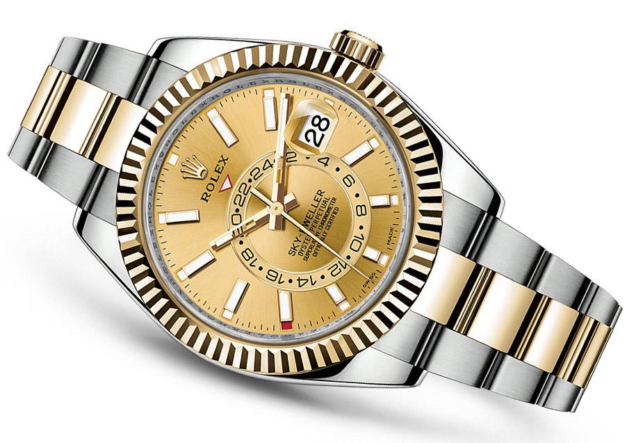 Rolex Sky Dweller Steel Gold