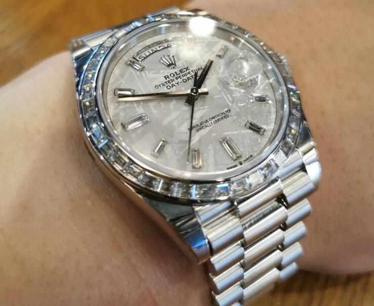 Each of this Rolex Day-Date will be the one and only in the world with the unique pattern on the dial.