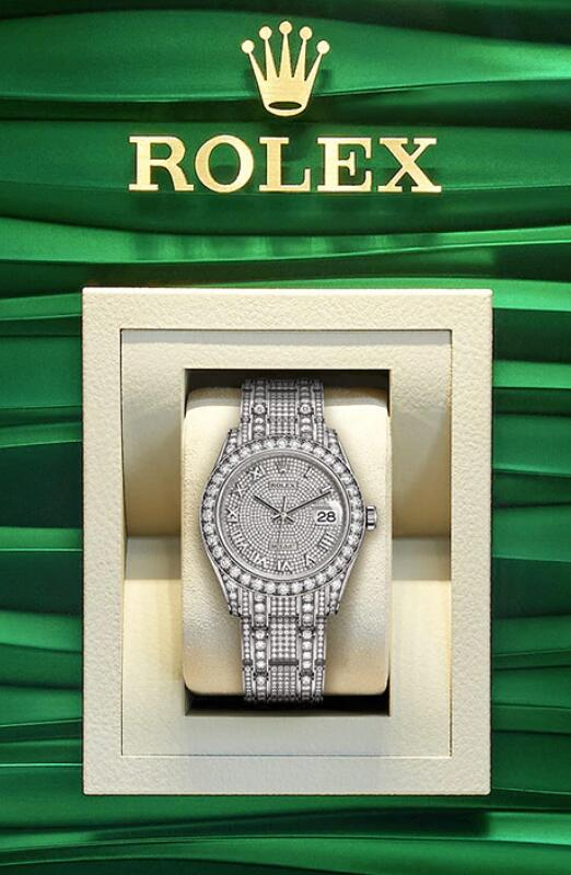 Forever knock-off watches are covered with diamonds.
