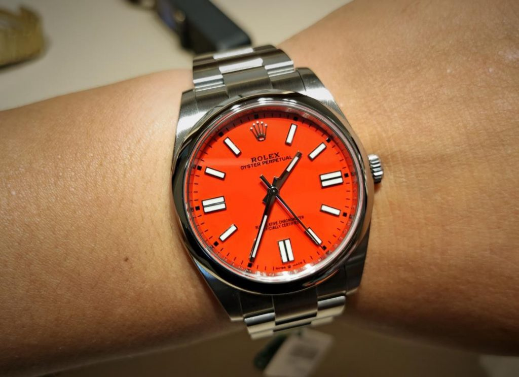 Rolex Oyster Perpetual copy is always with high cost performance.