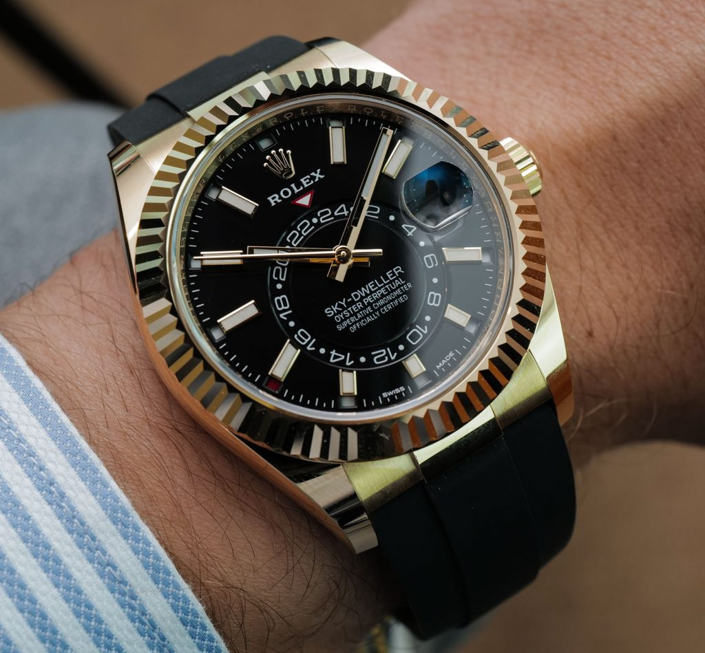 Rolex Sky-Dweller replica is the most complicated model of Rolex.