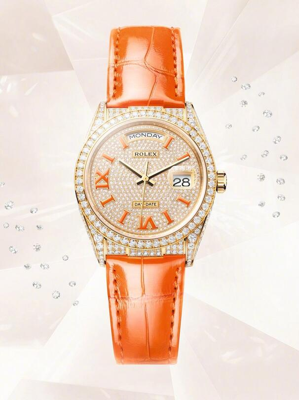 AAA replication watches are created in gold and diamonds.