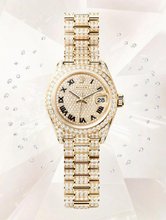 Swiss reproduction watches are fully covered with diamonds.